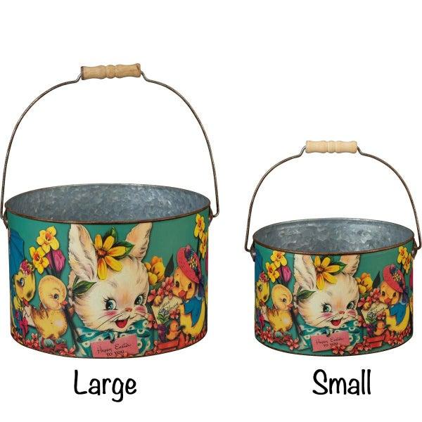 Vintage Happy Easter Bucket