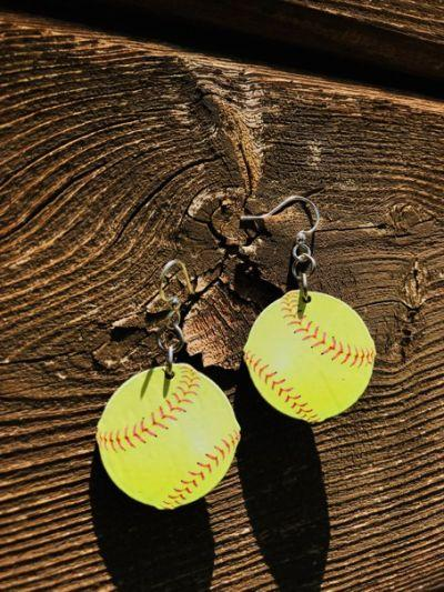 Softball Earrings *Final Sale*