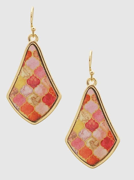 Pink Moroccan Earrings *Final Sale*