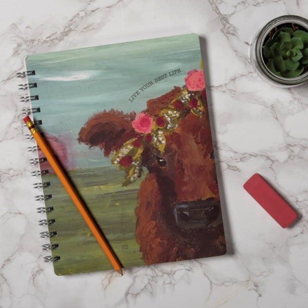 Live Your Best Life Cow Spiral Notebook *Final Sale*