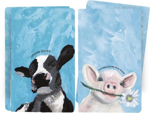 Choose Happy Farm Animal Notebooks - 2pc *Final Sale*