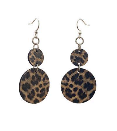 Leopard Print Wood Earrings *Final Sale*