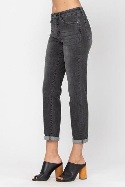 Judy Blue: Vintage Black Non Distressed Boyfriend Jeans