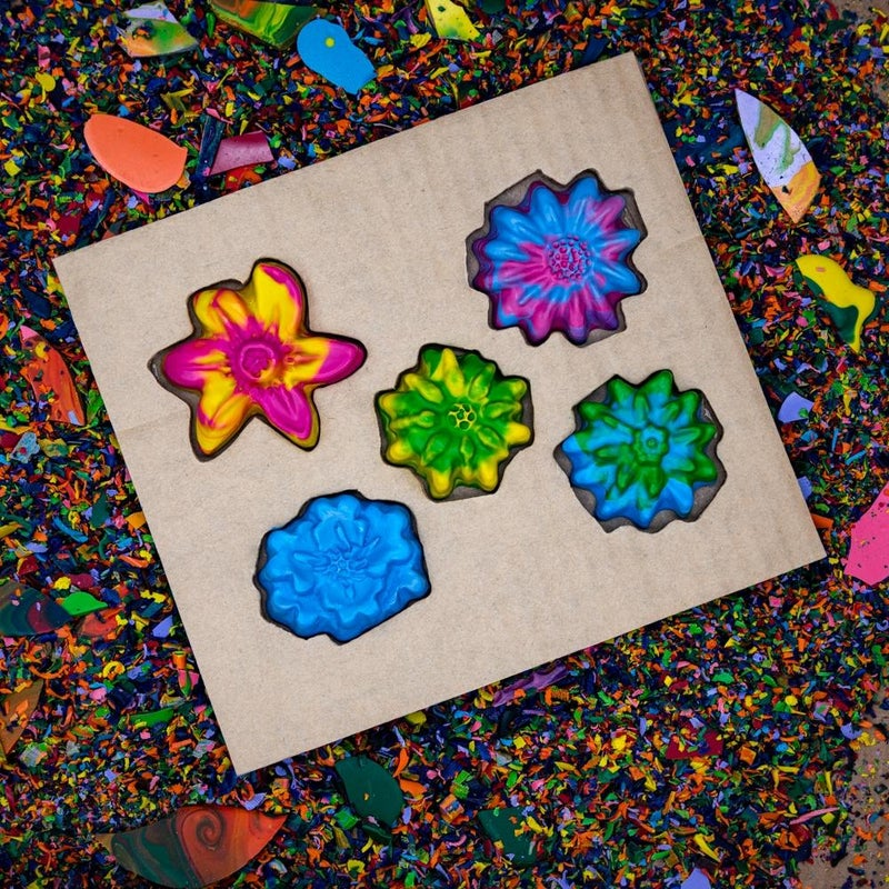 Multi Color Flowers Crayon Set *Final Sale*