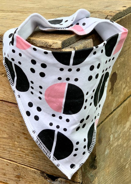 Pink Polka Dot Bandana Bib For Baby