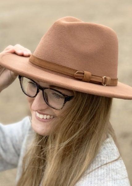 Tan Fedora Hat For Women