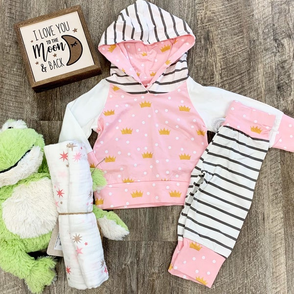 Princess 2pc Jogger Set For Baby Girl