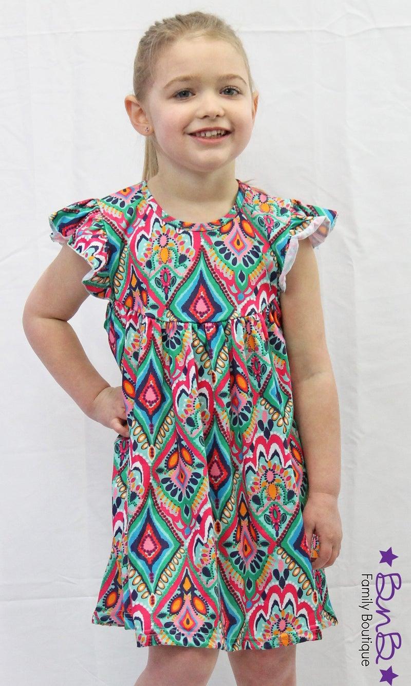 Kaleidoscope Flutter Dress *Final Sale*