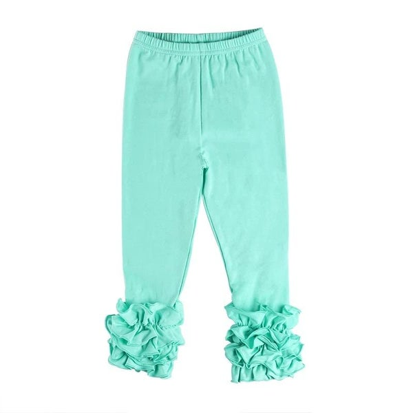 Mint Ruffle Legging For Girls