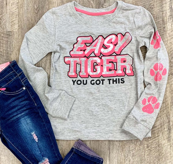 Easy Tiger Long Sleeve Graphic For Girls