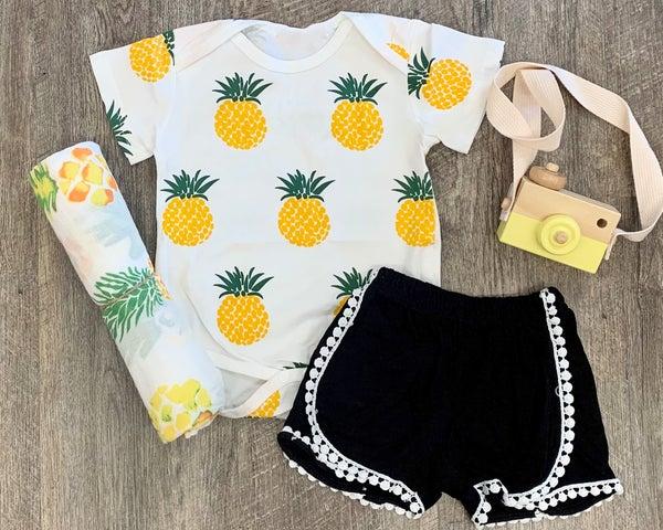 Pineapple Bodysuit For Baby