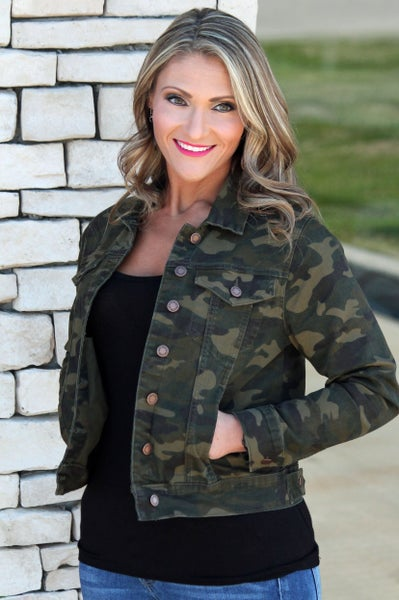 Judy Blue Denim Camo Jacket - Women