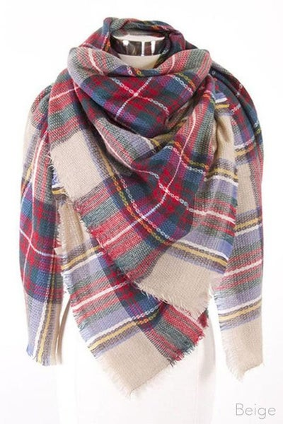 Beige Blanket Scarf for Women *Final Sale*
