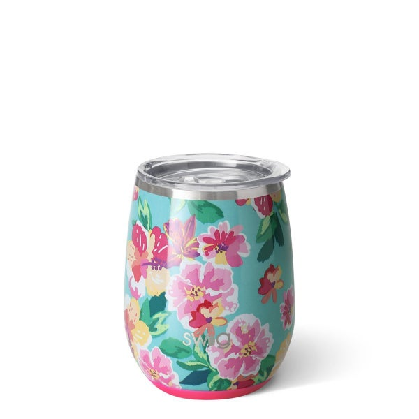 Swig Island Bloom 14oz Stemless Wine Cup