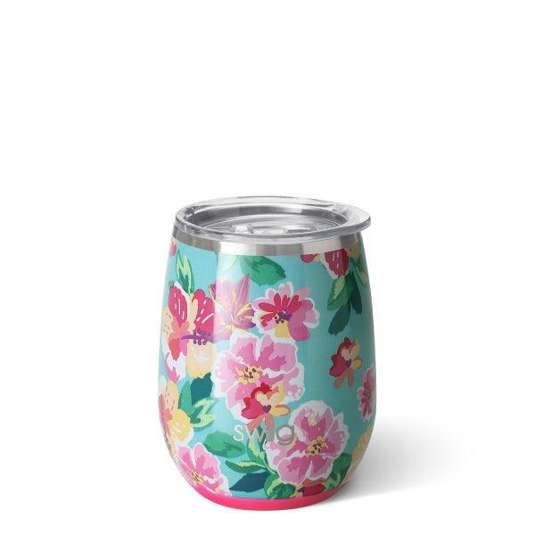 Swig Island Bloom 14oz Stemless Wine Cup