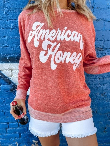 American Honey Lightweight Sweatshirt For Women