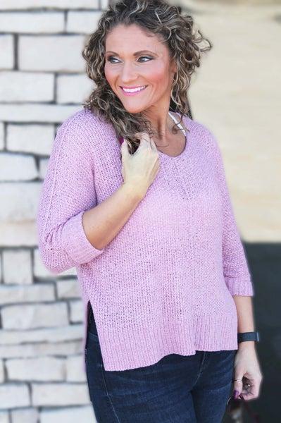 Mauve Lightweight Sweater For Women