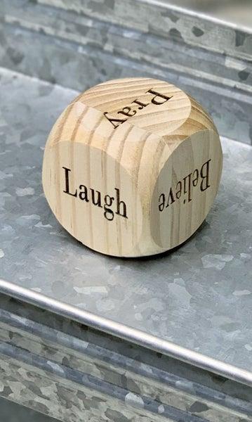 Inspirational Wood Dice *Final Sale*
