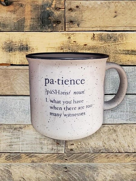 Patience Speckled White Mug