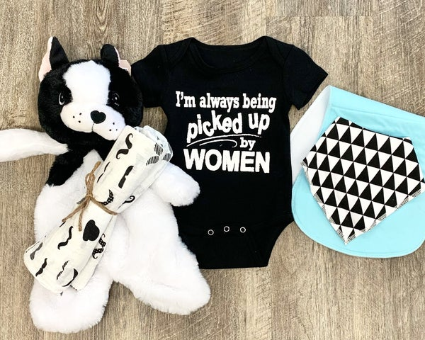 I'm Always Being Picked Up By Women Bodysuit For Baby