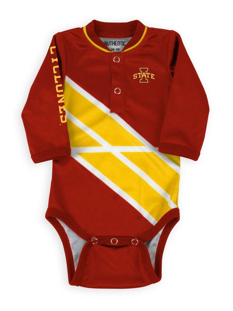 Go ISU Game Ready Long Sleeve Onesie For Baby
