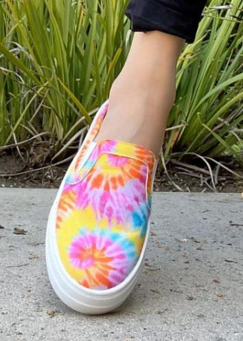 Tie Dye Slip On Shoes For Women *Final Sale*