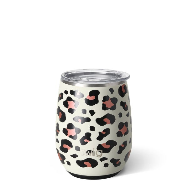 Swig Leopard 14oz Stemless Wine Cup
