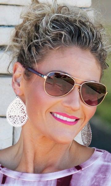 Gold & Silver Ornate Teardrop Earrings *Final Sale*