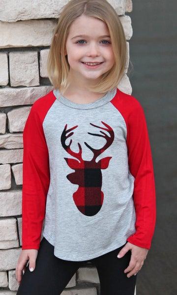 Plaid Deer - Girls *Final Sale*