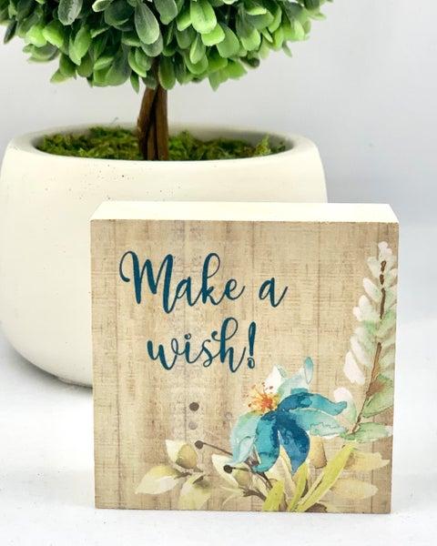 Make A Wish Mini Wood Sign