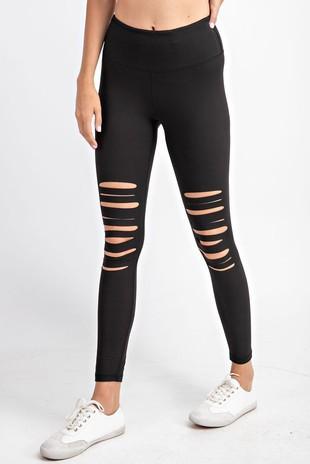 Laser Cut High Waist Leggings For Women *Final Sale*