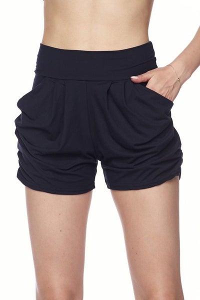 Black Harem Shorts For Women