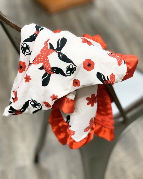 Bandana Cow Cozy Baby Blanket
