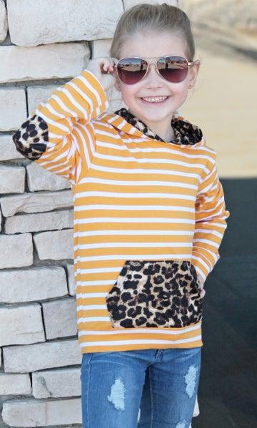 Sunshine Leopard Hoodie For Girls *Final Sale*