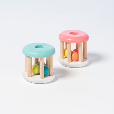 Wooden Cylinder Rattle For Baby *Final Sale*