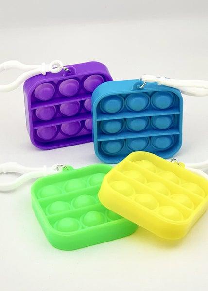 Square Clip & Go Fidget Popper Toy *Final Sale*