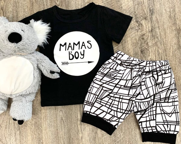 Mamas Boy 2pc Outfit Set For Boys