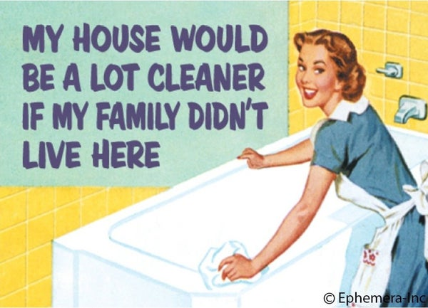 My House Would Be A Lot Cleaner If.... Magnet *Final Sale*