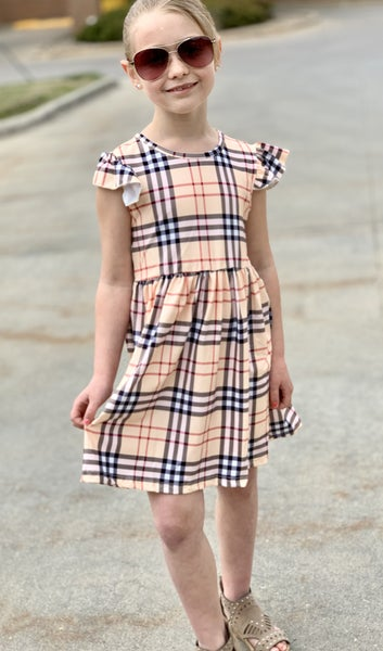 Signature Plaid Dress For Girls