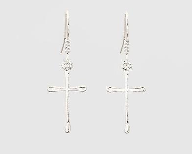 Silver Cross Earrings *Final Sale*