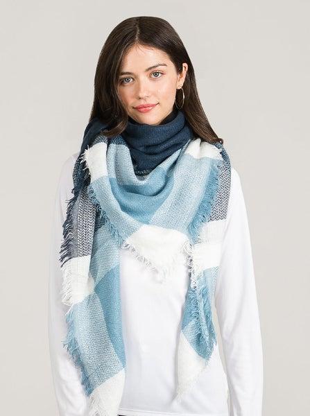 Blues Blanket Scarf For Women *Final Sale*