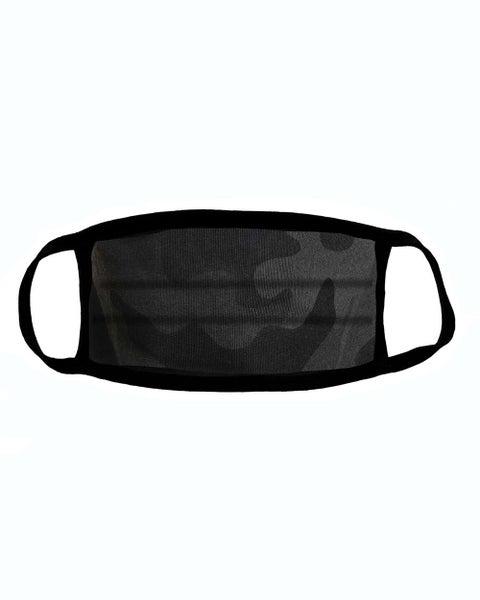 Black Camo Facial Protector For Youth
