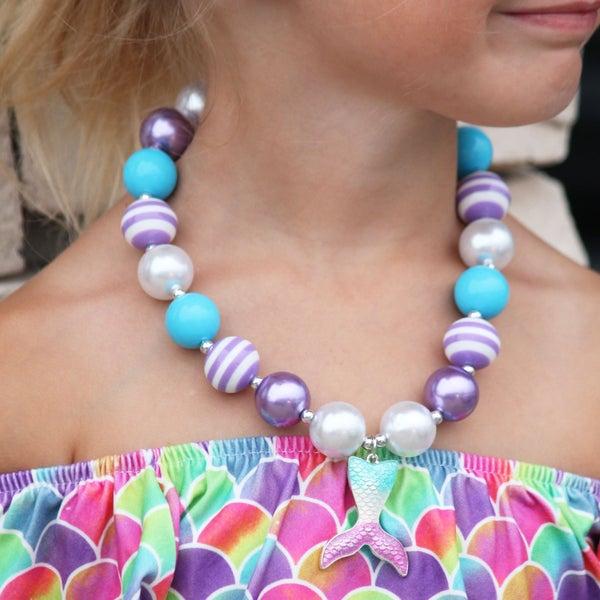 Mermaid Bubblegum Necklace For Girls *Final Sale*