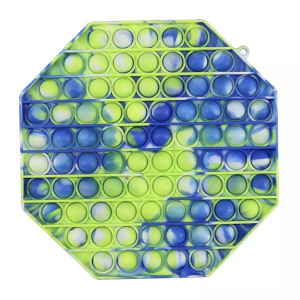 Large Blue Tie Dye Octagon Fidget Popper *Final Sale*
