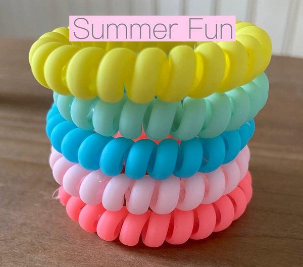 Summer Fun Hair Tie Coils *Final Sale*