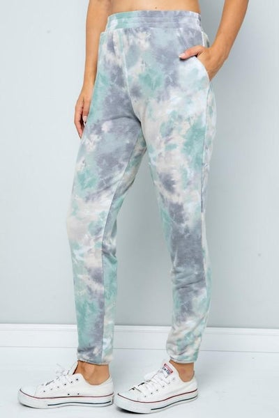 Sage Mix Tie Dye Joggers For Women *Final Sale*