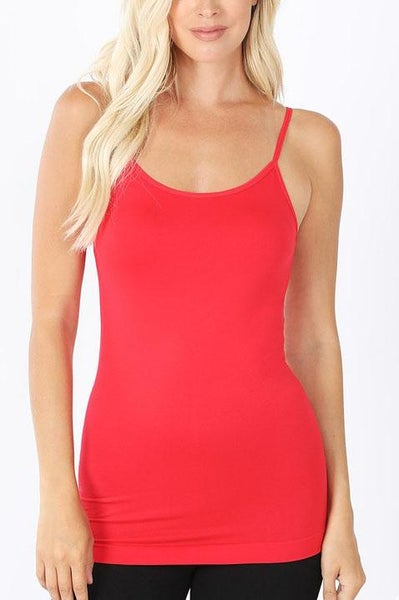 Ruby Red Seamless Cami For Women *Final Sale*