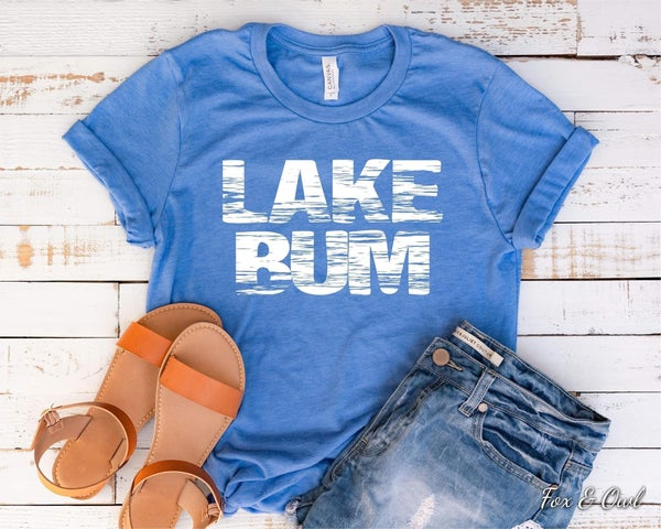 Lake Bum Graphic Tee For Adults