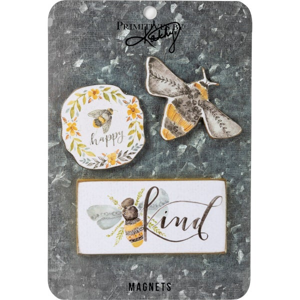 Bees 3pc Magnet Set