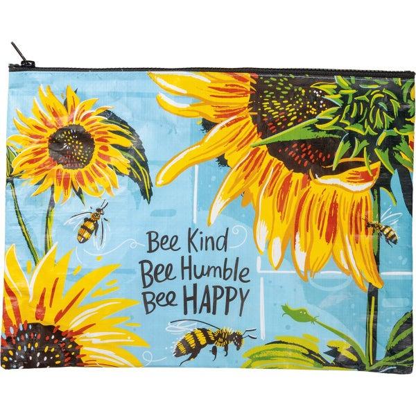 Bee Kind Bee Humble Bee Happy Zipper Pouch
